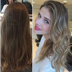 Antes e depois da linda @danttasjaqueline by @tiagocardosohair  aqui no #mgHairDesign