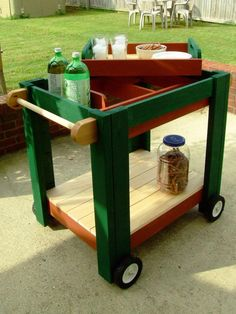How To Make A Serving Cart With Removable Tray