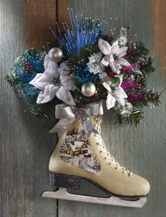 Victorian Holiday Winter Ice Skate Door Decor