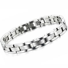 Best Sellers $5.90, Buy Special Wholesale Price New Fashion Jewelry Classic Men's Titanium Steel Bracelet Health Bracelet CT8012
