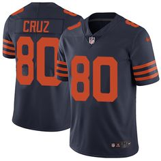 Youth Nike Chicago Bears #80 Victor Cruz Limited Navy Blue Alternate Vapor Untouchable Limited Player NFL Jersey