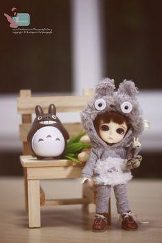 """Totoro Hoody for Lati yellow,Pukifee,other 6"""" BJD"""