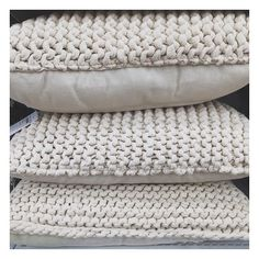How gorgeous are these knitted cushions from @targetaus! I just love this texture and colour, and for $20 they're a steal! #target #targetaus #homedecor #knittedcushion #cushion