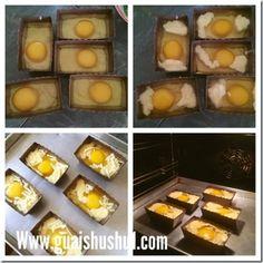 Korean Egg Bread aka Gyeran Bbang (韩国鸡蛋面包) Korean Egg Bread, Cakes Plus, Bacon Bits, Bacon Egg, Boiled Eggs, Recipe Using, No Cook Meals, Dairy Free, Snacks