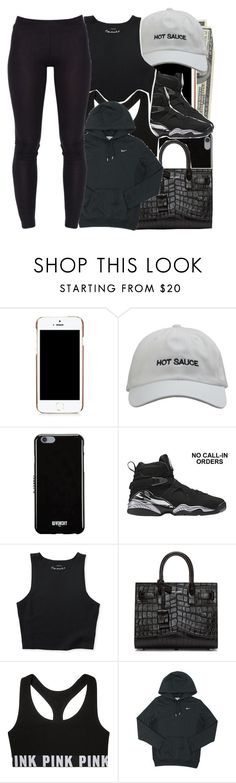 """Untitled #821"" by prvncessbeautifulmee ❤ liked on Polyvore featuring Moschino, Givenchy, Aéropostale, Yves Saint Laurent and NIKE"