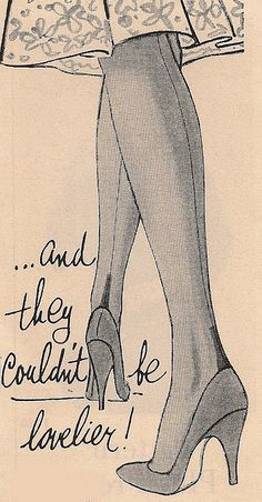 vintage hosiery ad - back seam stockings. ❣Julianne McPeters❣ no pin limits