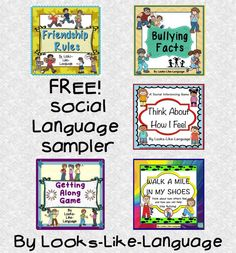 Try a sample from my social language skills products! FREE!