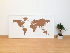 Cork board world map white cork boards cork and natural brown cork board world map white sciox Image collections