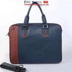 armani hand bags?   Armani Bags Mens Leather Double Handle Tote Navy M55025-3 Leather Laptop Bag, Laptop Bags, Leather Briefcase, Briefcase For Men, Briefcases, Men Bags, Computer Bags, Giorgio Armani, Leather Men