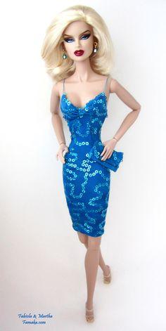 blue sequins beauty