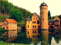 Castle Mespelbrunn, Germany.  The cover of our old map featured this castle; how could we resist it?  It's a pretty place, reflecting the tranquility and peace of the family that built it.