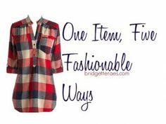 Plaid shirts aren't just for lumberjacks this fall.  Here are five ways to wear a casual plaid shirt.  via @Bridgette Raes