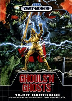 Ghouls 'N Ghosts (1989) - Sega Genesis Box Art #retro #games