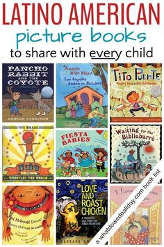 A list of children's books for Hispanic Heritage Month. These picture books feature fiction, biography and poetry titles about Hispanic culture for kids.