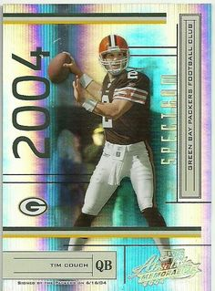 2004 ABSOLUTE SPECTRUM #35 TIM COUCH 75/100 BROWNS 50 CENT SHIP #ClevelandBrowns
