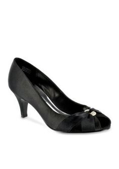 Easy Street Black Sunset Peep Toe Evening Shoe