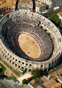 Arena in nimes france still in use.