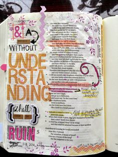 Amber Horn: Bible Journaling: Hosea 4 & Indexing