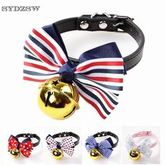 >> Click to Buy << SYDZSW Pet Dog Cat Collar Lovely Bowknot Big Golden Bell Leather Puppy Collar Leads Cat Necklace Chihuahua Products Pet Supplies #Affiliate