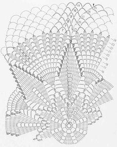 """Photo from album """"Серветки"""" on Yandex. Filet Crochet, Crochet Doily Diagram, Crochet Doily Patterns, Crochet Chart, Thread Crochet, Crochet Motif, Crochet Doilies, Crochet Stitches, Crochet Decoration"""