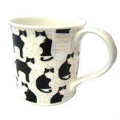 Dunoon Bute Animal Antics - Black Cat Mug > Dunoon Mugs