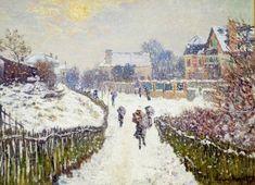 Claude Monet, Boulevard St Denis, Argenteuil, Snow Effect (1875) on ArtStack #claude-monet #art