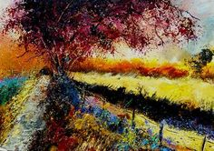 "Saatchi Online Artist Pol Ledent; Painting, ""Autumn in Gendron"" #art"
