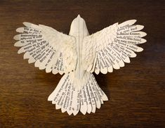 Handmade Wood & Paper Birds by Zack Mclaughlin http://www.thisiscolossal.com/2015/04/handmade-wood-paper-birds-by-zack-mclaughlin/