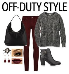 """Off Duty Style"" by amandamaier ❤ liked on Polyvore featuring Paige Denim, L.L.Bean, Kurt Geiger, Rebecca Minkoff, LASplash, Cathy Waterman and Annoushka"