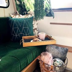 Mona Monza Caravan (@mona_monzacaravan) • Instagram photos and videos Caravan Makeover, Couch, Throw Pillows, Photo And Video, Bed, Videos, Photos, Furniture, Instagram