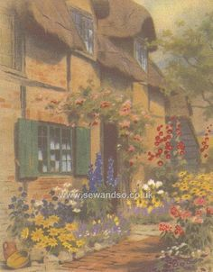 Buy+Cobblestone+Cottage+Embroidery+Kit+Online+at+www.sewandso.co.uk