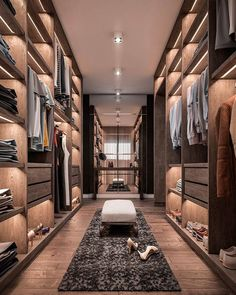38 Wonderful Walk In Closet Design Ideas With Low Budget - Have you ever considered how much walk in closet designs could improve your life and save you time? How many of you have had one of those mornings, yo. Wardrobe Room, Wardrobe Design Bedroom, Closet Bedroom, Shoe Closet, Wardrobe Storage, Home Room Design, Dream Home Design, Modern House Design, Dressing Room Closet