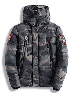 XiaoTianXinMen XTX Mens Winter Solid Color Hoodie Thicken Down Quilted Jacket Coat Outwear