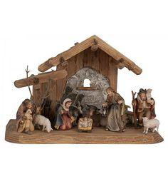 Old World Carved Nativity