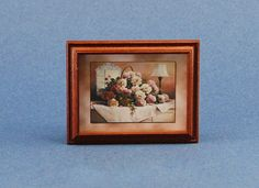 Dollhouse Miniature Lovely Framed Floral Picture #HC201