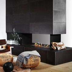 Tiled Fireplace Surround Ideas Modern Fireplace Tile | Fire places ...