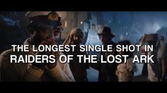 'Raiders of the Lost Ark' 1-Page Film School: http://vashivisuals.com/raiders-of-the-lost-ark-1-page-film-school/  This 101-second shot from Raiders of the Lost Ark is the single longest shot from the film. Using motivated camera movement, staging actors in different layers of depth and then altering the actor closest to camera....Steven Spielberg and DP Douglas Slocombe crafted an emotional scene with no cuts whatsoever.