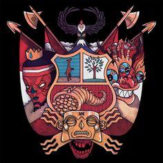 Armas&Cultura on Behance Mayan Symbols, Viking Symbols, Egyptian Symbols, Ancient Symbols, Viking Runes, Tattoo Peru, Inca Tattoo, Wiccan Tattoos, Celtic Tattoos