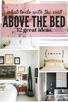 Wall Decor Bedroom Above Bed Ideas. Lovely Wall Decor Bedroom Above Bed Ideas. the area Above Your Bed is A Great Blank Slate for some Fun Bedroom Wall Decor Above Bed, Bed Wall, Bedroom Pictures Above Bed, Decor For Above Bed, Above Headboard Decor, Home Renovation, Diy Pinterest, Home Bedroom, Master Bedroom