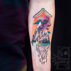 Colorful Surreal Tattoos by Chris Rigoni - such a cool concept - lots of room to play
