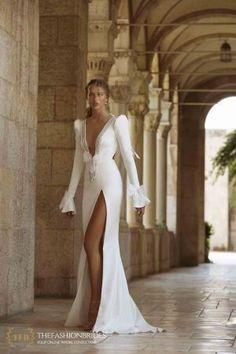 Berta Colony 2021 Bridal Collection – The FashionBrides Wedding Dress Trends, Elegant Wedding Dress, Wedding Gowns, Berta Bridal, Fairytale Dress, Backless Wedding, Long Sleeve Wedding, Bridal Beauty, Bridal Looks