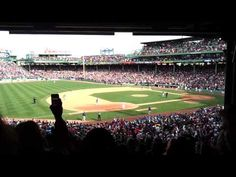"""Amateur video from inside Fenway Park of the best version of """"Sweet Caroline"""" EVER, led by Neil Diamond, April 20, 2013."""