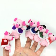 5Pcs Cartoon Animal Finger Puppet Plush Toy Story Doll Props Pig Plush Doll - 7cm Check more at http://vanthasodalis.com/2014/12/5pcs-cartoon-animal-finger-puppet-plush-toy-story-doll-props-pig-plush-doll-7cm.html