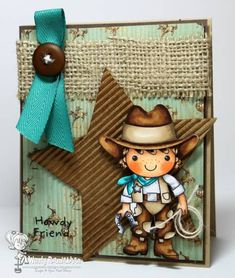 Howdy Friend by Nin Nin - Cards and Paper Crafts at Splitcoaststampers