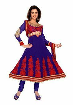 Fabdeal Women's Indian Designer Wear Embroidered Anarkali Suit Blue Fabdeal, http://www.amazon.de/dp/B00GAPX8LC/ref=cm_sw_r_pi_dp_819otb142E929