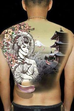 tatuajes de geishas para hombres grandes