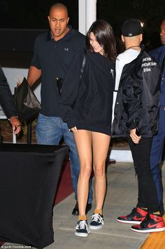 Leggy lady! Kendall Jenner ensured her best assets would be on full display as she headed to Kanye West's concert at the Forum in Inglewood, California on Tuesday
