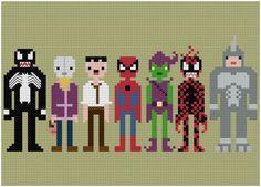 Pixel People - Spider-Man & Villains