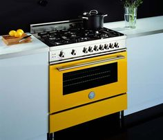 Need a pop of color for your new kitchen? Bertazzoni sells the most beautiful, bright ranges.