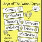 FREE!!  These cute bee themed days of the week cards can be used many ways in your classroom.